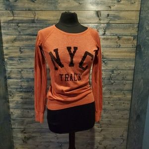 Teaspoon NYC Sweater Pumpkin Spice Orange Sweater